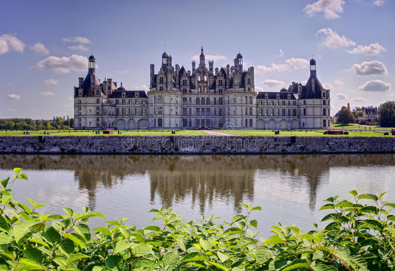 Chambord castle, France stock photos