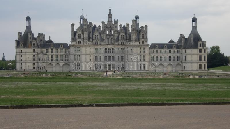 Chambord castle in France royalty free stock photo