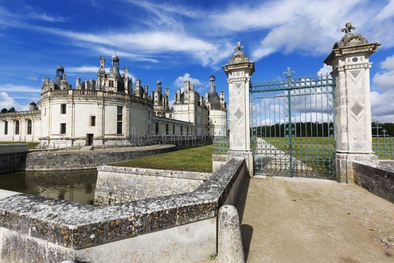 chambord de France zamku Loire valley zdjęcie royalty free
