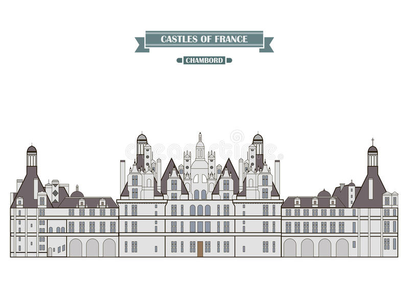 Chambord, Frankrijk stock illustratie