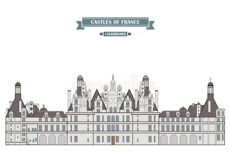 Chambord Frankrike stock illustrationer
