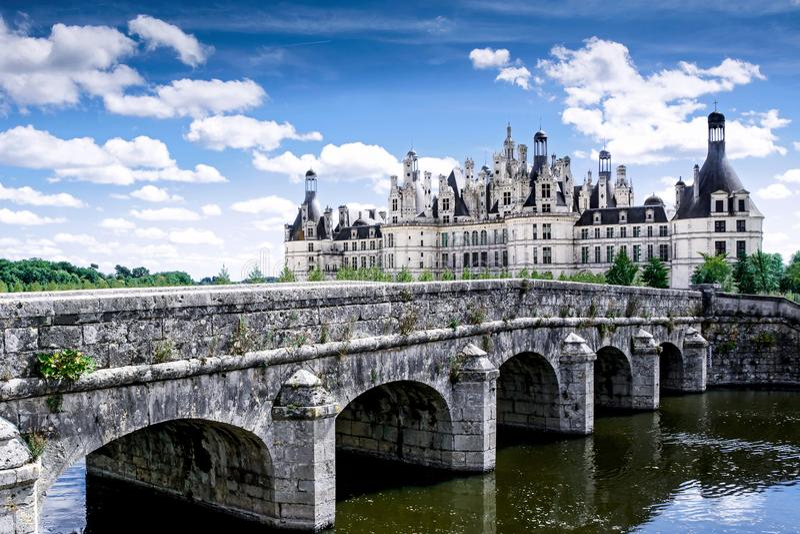 Chambord, Loir e Cher, França, o 14 de agosto de 2017, castelo Chambord T foto de stock