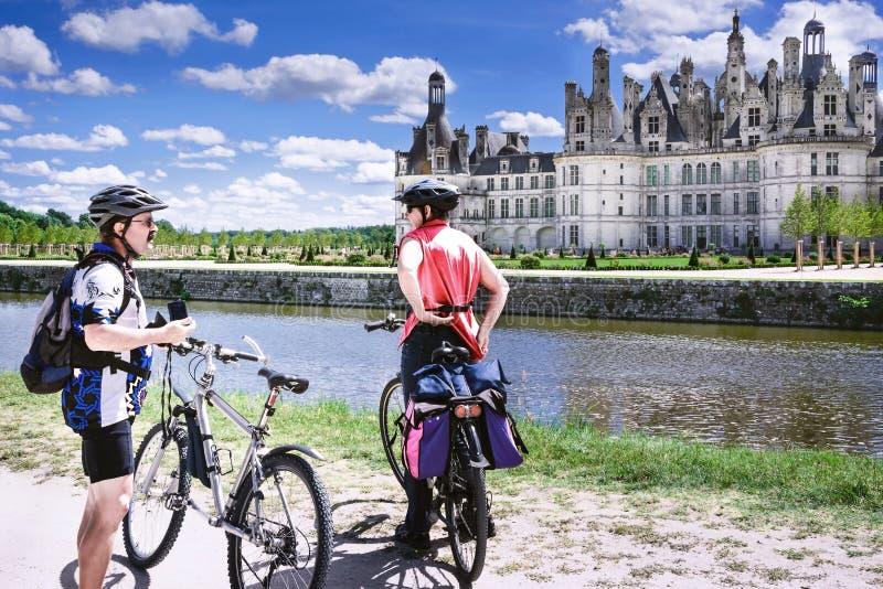 Chambord, Loir e Cher, França, o 14 de agosto de 2017, castelo Chambord T fotografia de stock