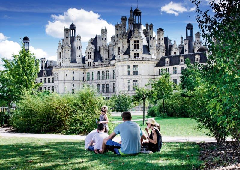 Chambord, Loir e Cher, França, o 14 de agosto de 2017, castelo Chambord T foto de stock royalty free