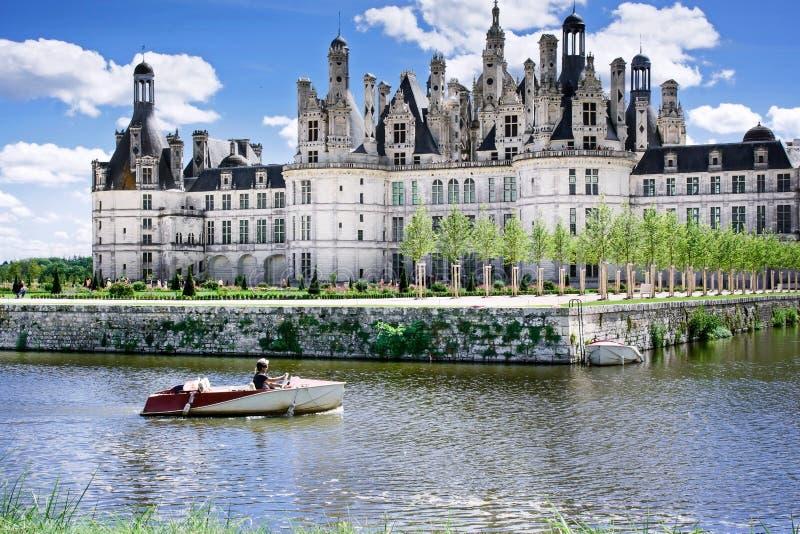 Chambord, Loir y Cher, Francia, el 14 de agosto de 2017, castillo francés Chambord T foto de archivo libre de regalías