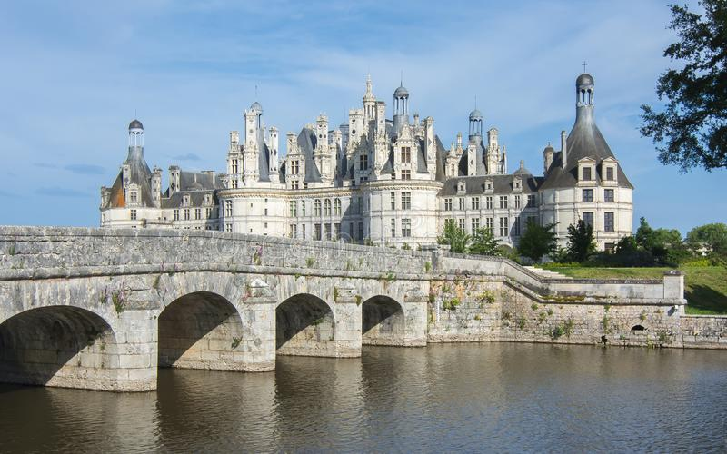 Chambord roszuje górską chatę w Loire dolinie, Francja obraz royalty free