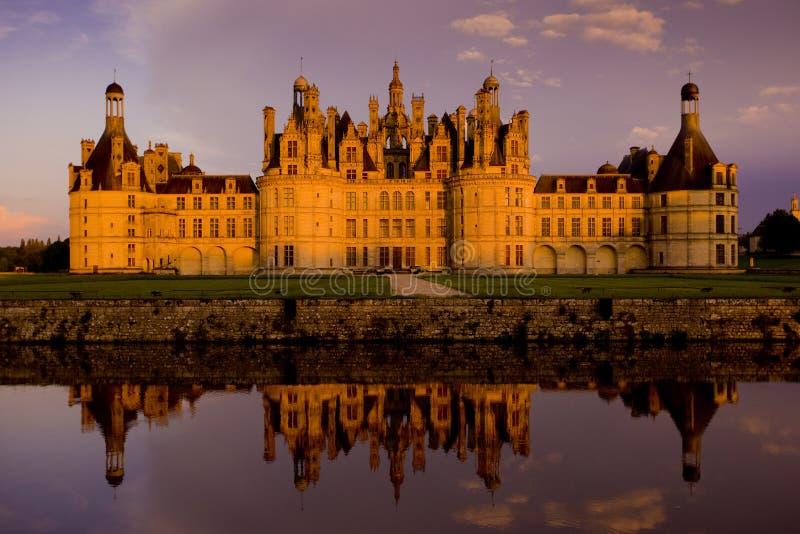 Chambord Schloss stockbild