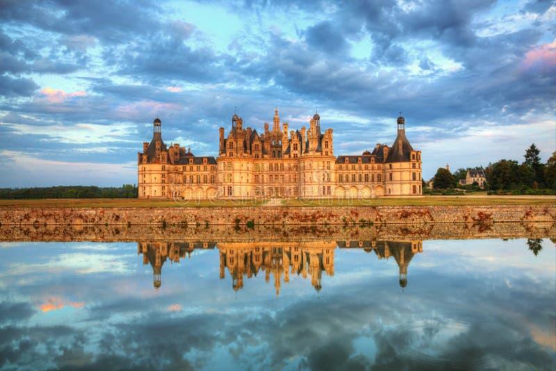 Chambord slott royaltyfria foton