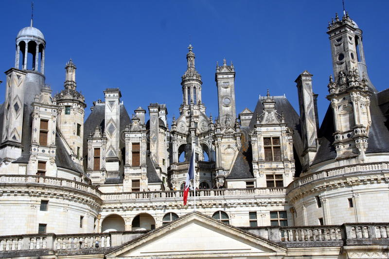 Chambord towers stock photo