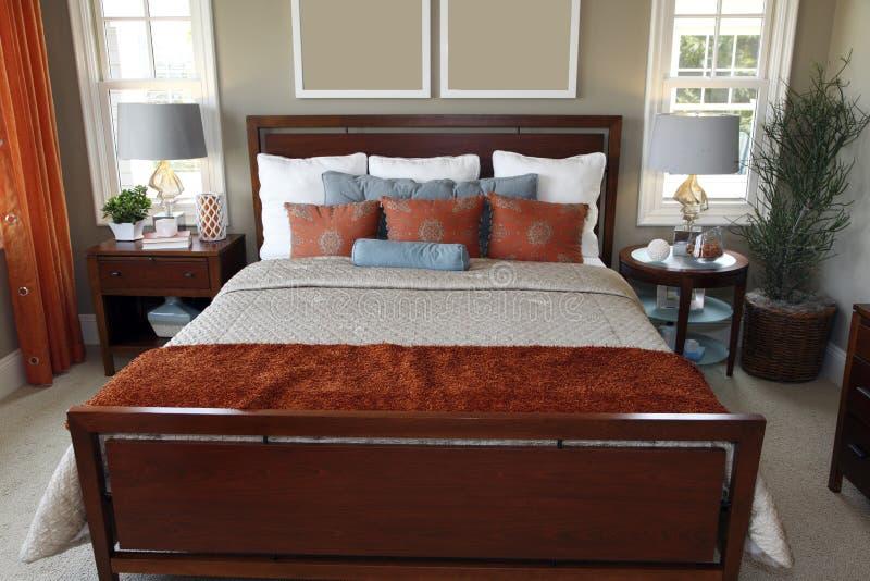 Chambre à coucher à la maison de luxe image stock