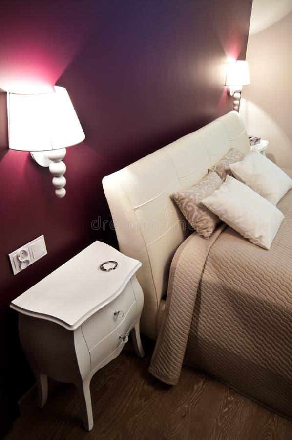 Chambre à coucher élégante photo libre de droits