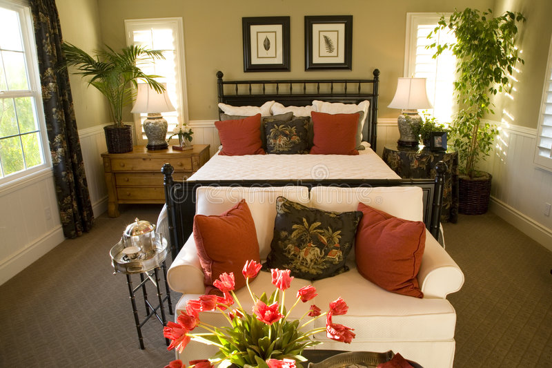 Chambre à coucher 1845 image stock