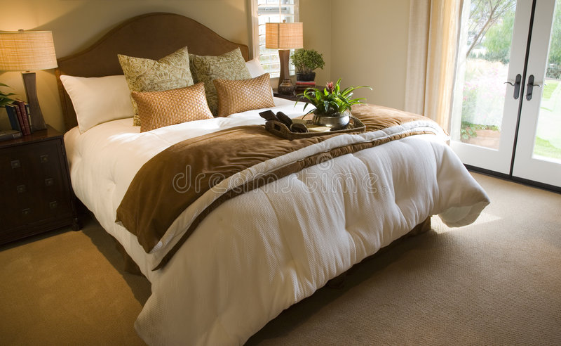 Chambre à coucher 2724 photo stock