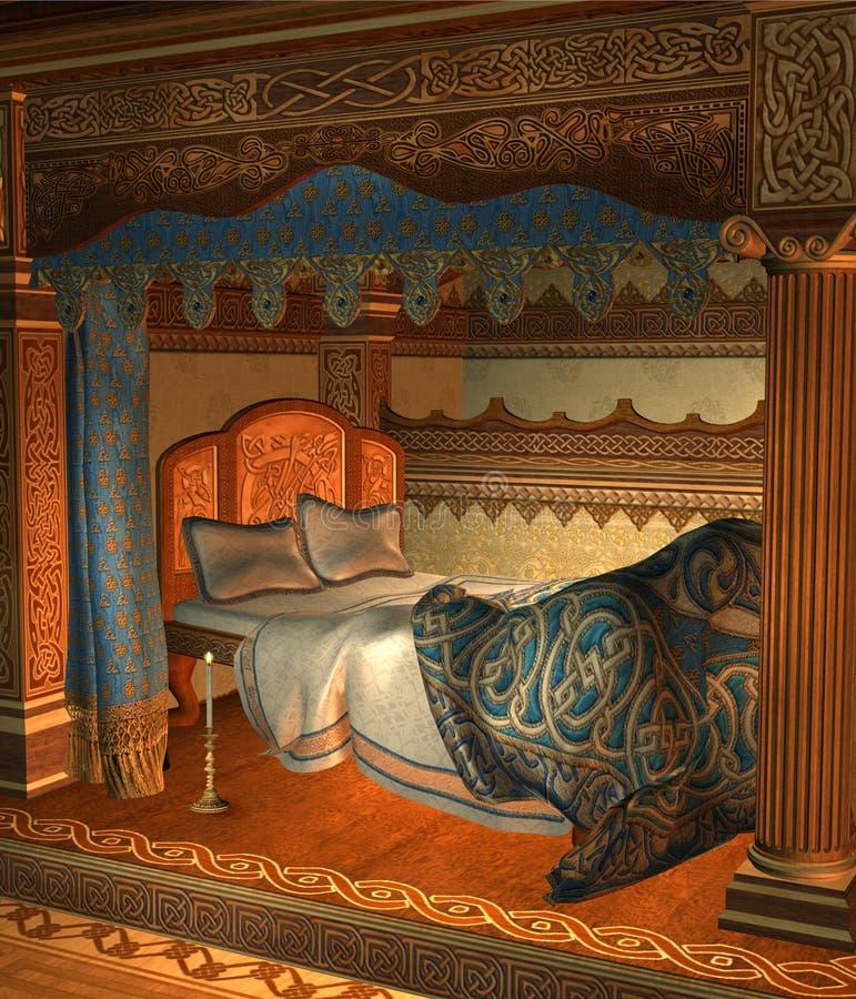 Chambre à coucher 3 d'imagination illustration stock