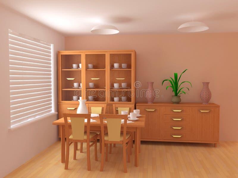 Chambre à coucher 3d intérieur illustration stock