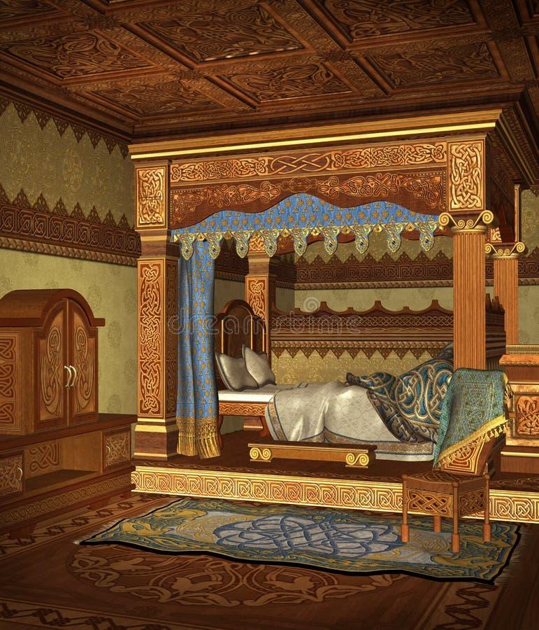 Chambre à coucher 4 d'imagination illustration libre de droits