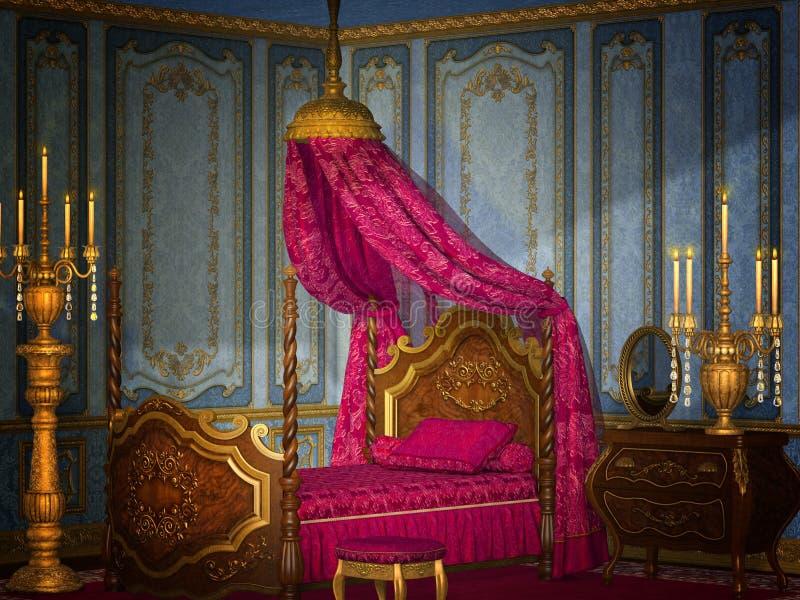 Chambre à coucher antique illustration libre de droits