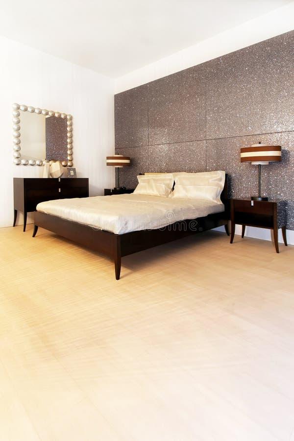 Chambre à coucher argentée 2 photos stock