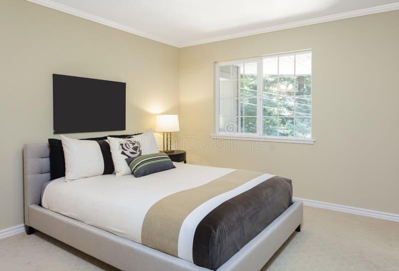 Chambre à coucher avec l'espace de copie pour votre art images libres de droits