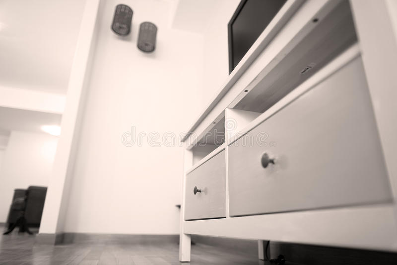 Chambre à coucher avec la grande garde-robe photographie stock