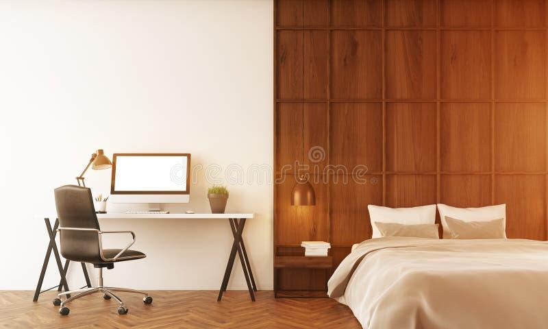 Chambre à coucher confortable en appartement moderne illustration stock