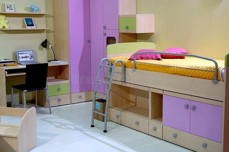 Chambre à coucher d'enfants photographie stock