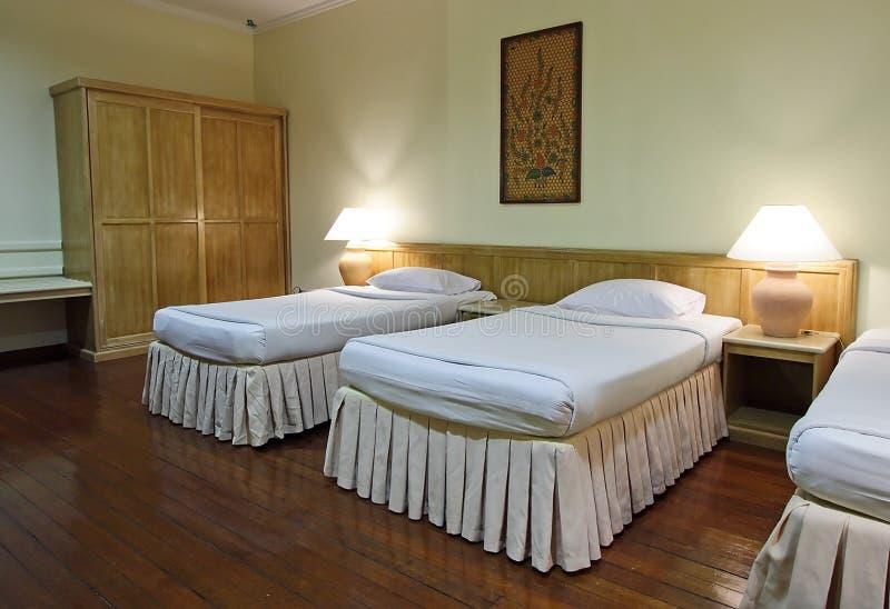 Chambre à coucher d'hôtel photos stock