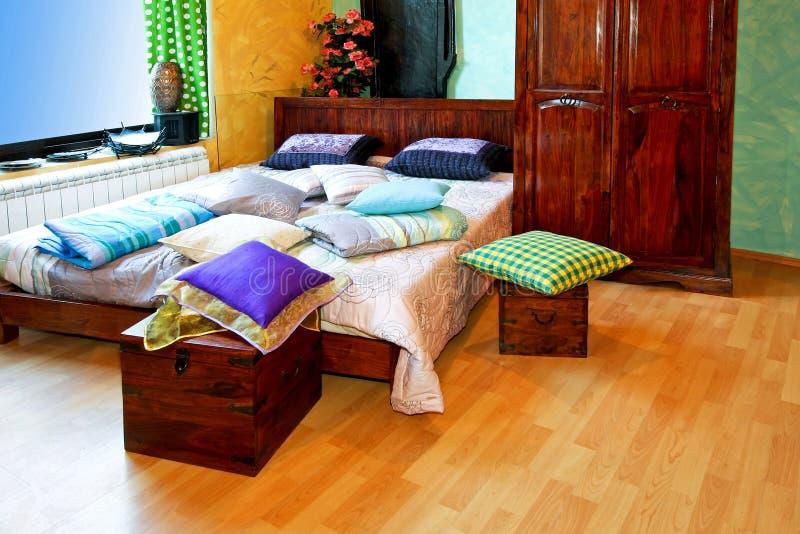 Chambre à coucher de l'Inde horizontale photo stock