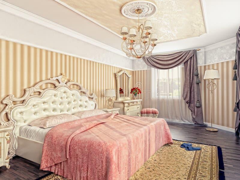Chambre à coucher de luxe illustration libre de droits