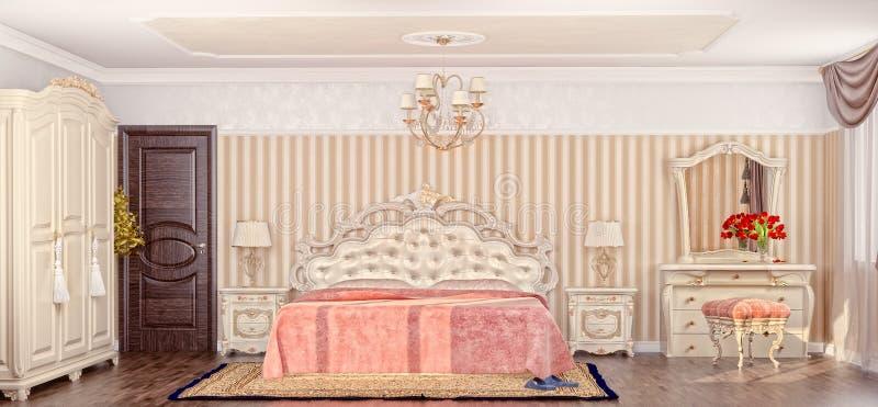 Chambre à coucher de luxe illustration de vecteur