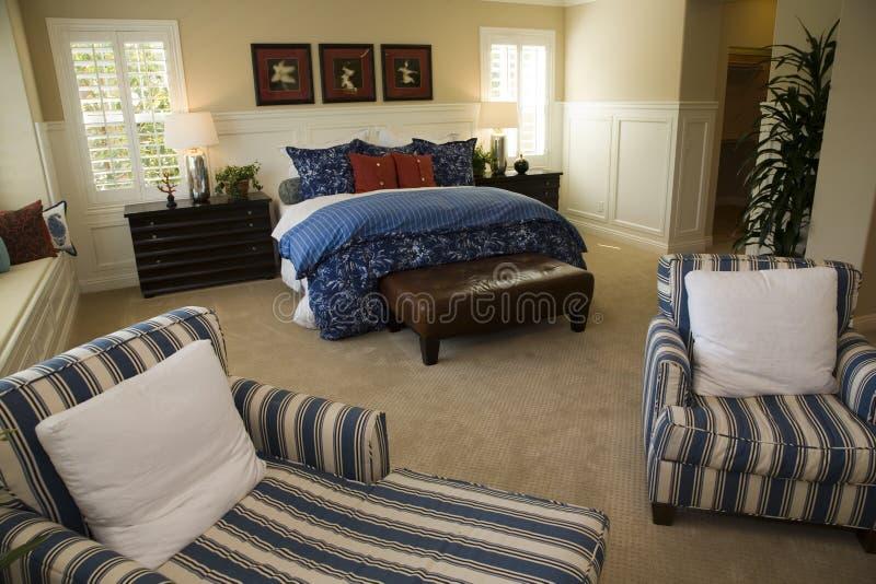 Chambre à coucher de luxe de créateur photos libres de droits