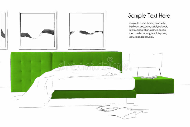 Chambre à coucher de Minimalistic image stock
