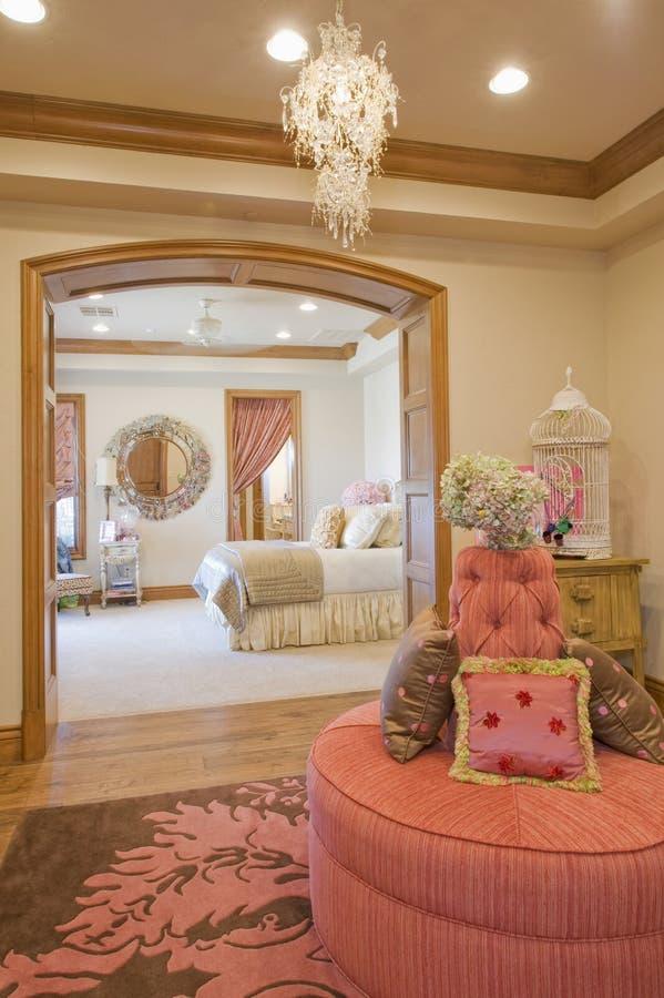 Chambre à coucher de salon photo libre de droits