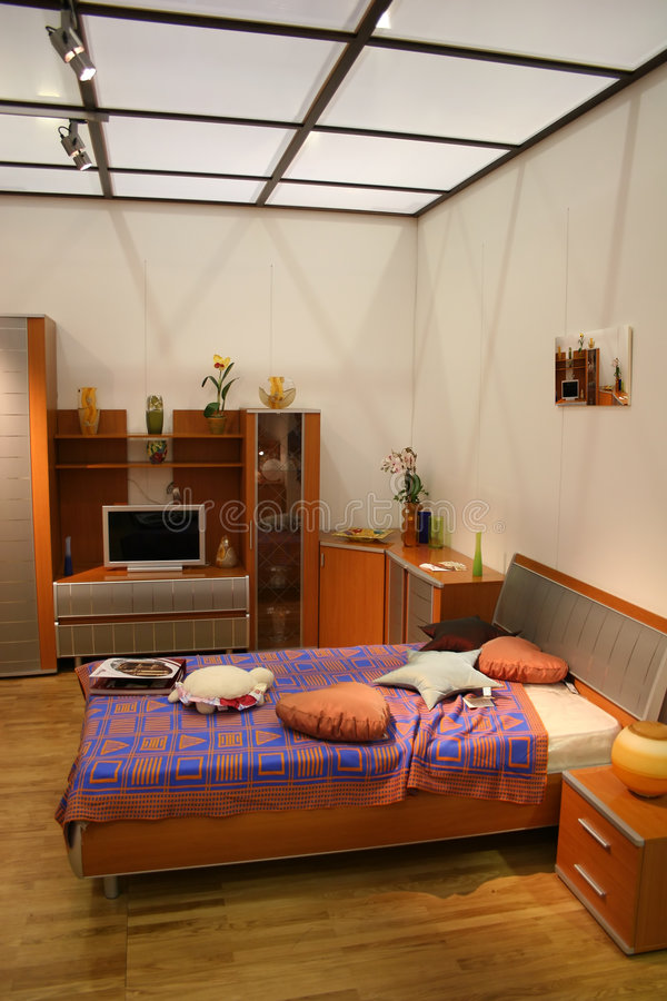 Chambre à coucher et toit photos libres de droits