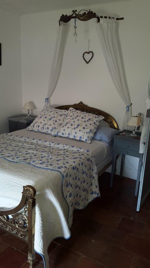 Chambre à coucher française photographie stock