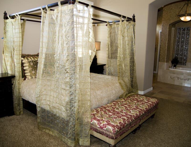Chambre à coucher inspirée asiatique images libres de droits