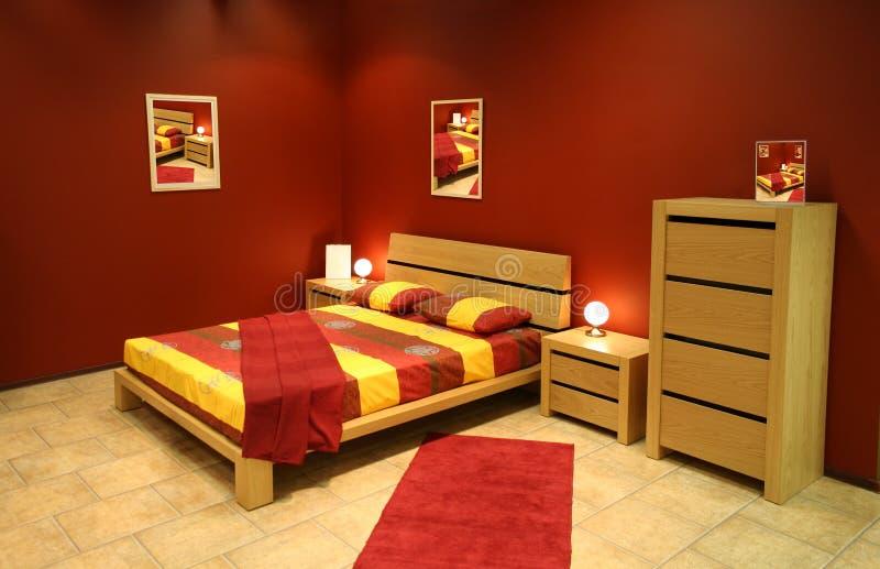 Chambre à coucher moderne photo libre de droits