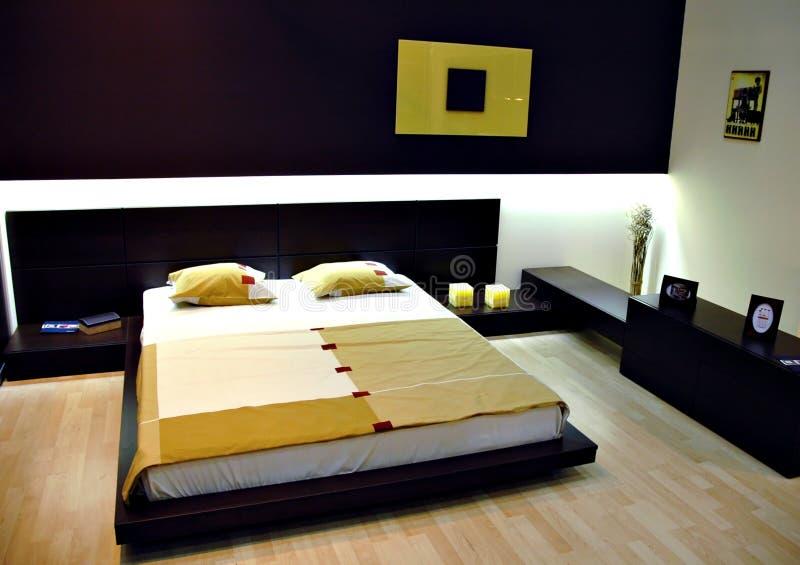 Chambre à coucher moderne photos stock