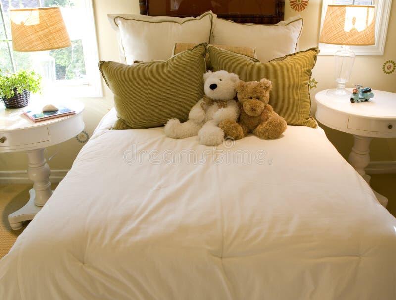 Chambre à coucher moderne de gosses. images stock