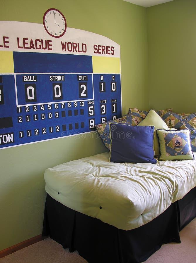 Chambre à coucher orientée de base-ball image stock