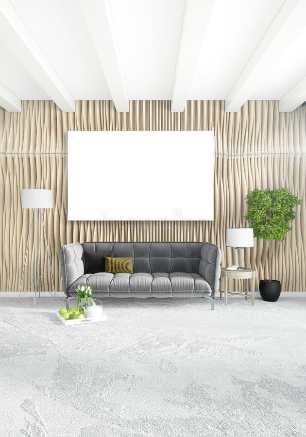 Chambre à Coucher Ou Salon Intérieur Moderne Vertical Avec Le Mur ...