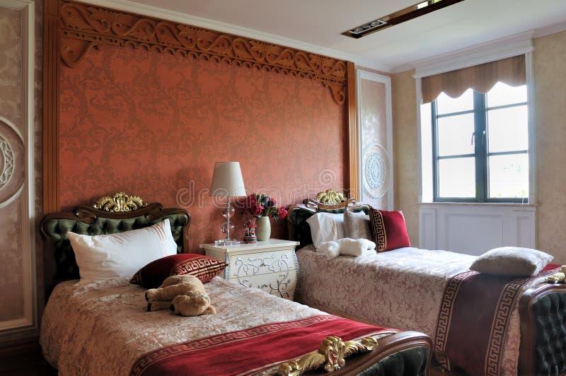 Chambre à coucher pour des gosses dans le type de luxe image libre de droits