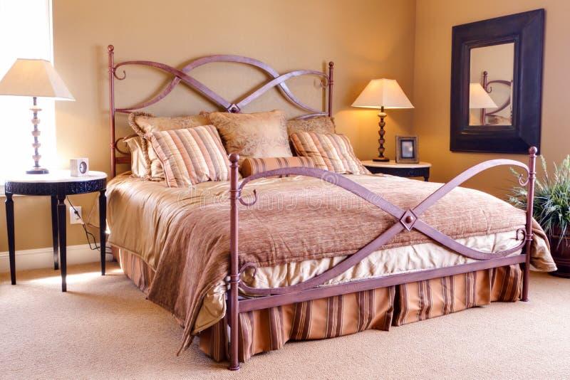 Chambre à coucher principale photo libre de droits