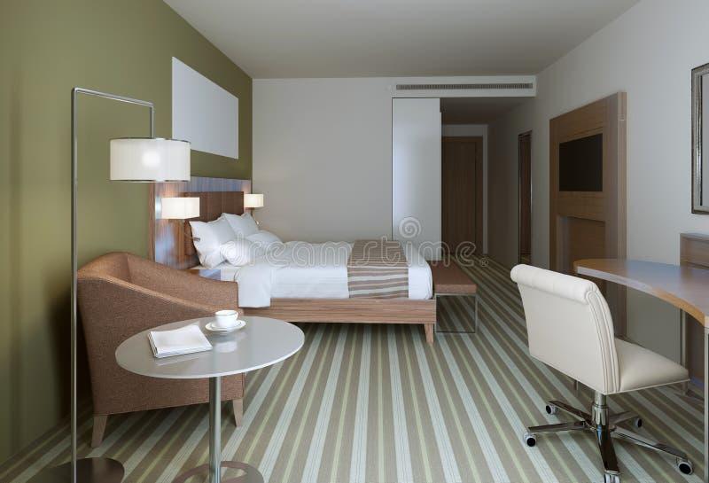 download chambre coucher principale dans le style contemporain image stock image 64862503 - Chambre A Coucher Style Contemporain