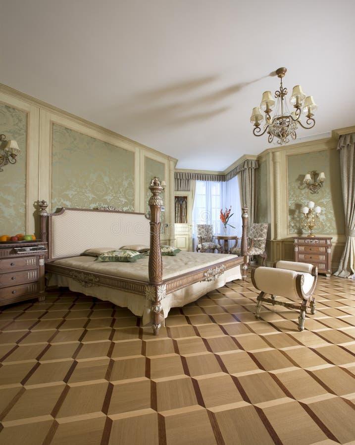 Chambre à coucher principale de luxe images libres de droits
