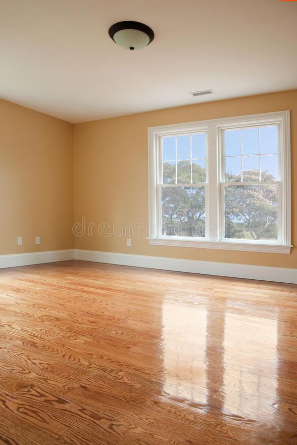 Chambre à coucher vide photo stock