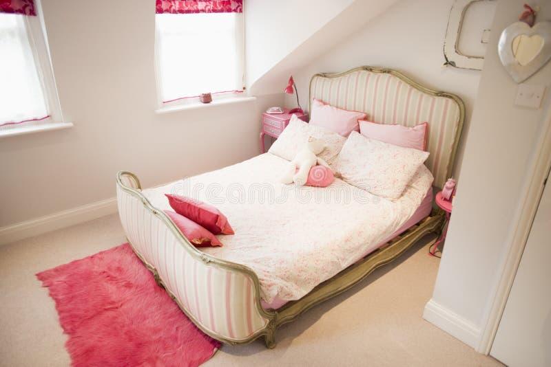 Chambre à coucher vide image libre de droits
