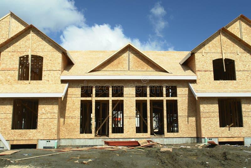 Chambre à la maison neuve duplex BC image stock