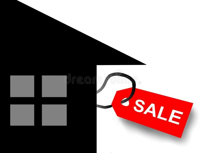 Chambre à vendre et l'étiquette illustration de vecteur