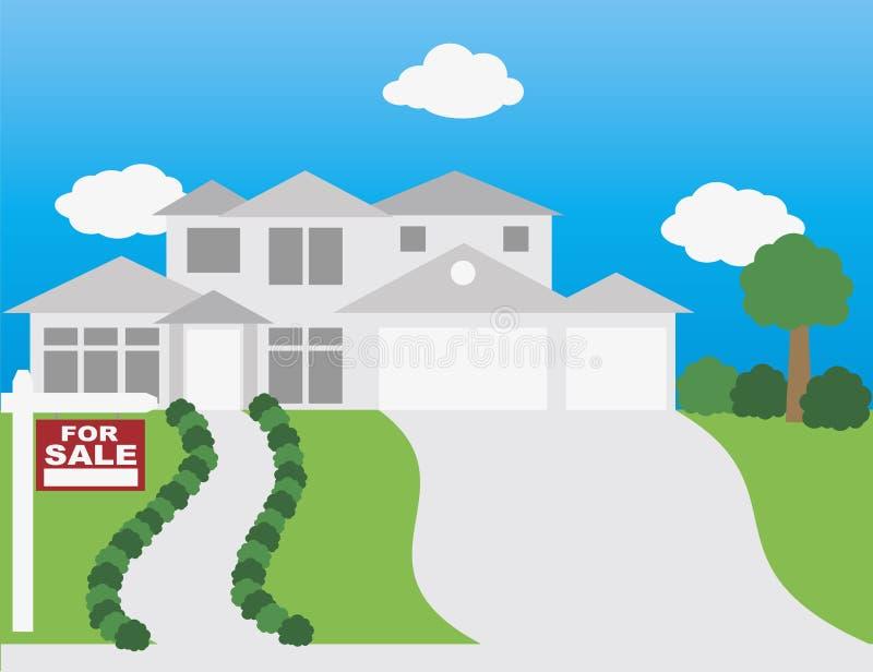 Chambre à vendre l'illustration illustration libre de droits